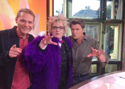 Niels Harder bij RTL Boulevard met Beau van Erven Dorens en Luuk Ikink