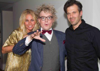 Niels Harder met Ellemieke Vermolen en Sergio Hermans